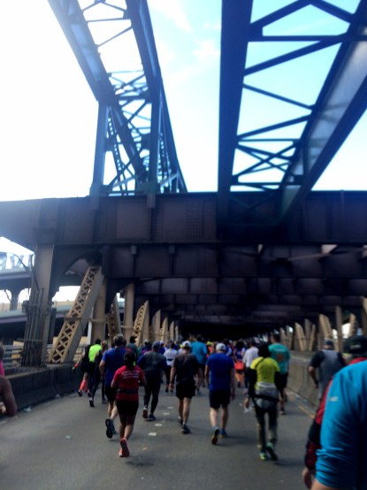 Running up Queensborough Bridge