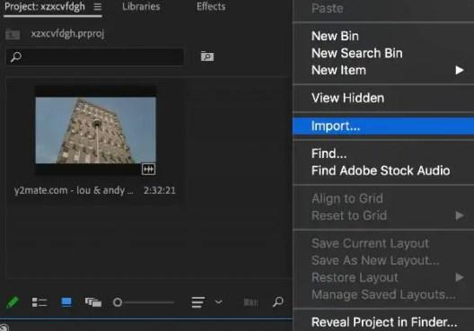Crop in Adobe Premiere Pro