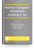 TC 13 International Conference Human-Computer Interaction (INTERACT 2003) Books