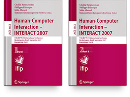 TC 13 International Conference Human-Computer Interaction (INTERACT 2007) Books