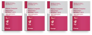 TC 13 International Conference Human-Computer Interaction (INTERACT 2013) Books