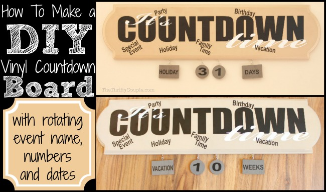 Countdown board made with leftover wood