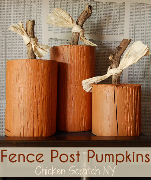 DIY pumpkins made from extra wood