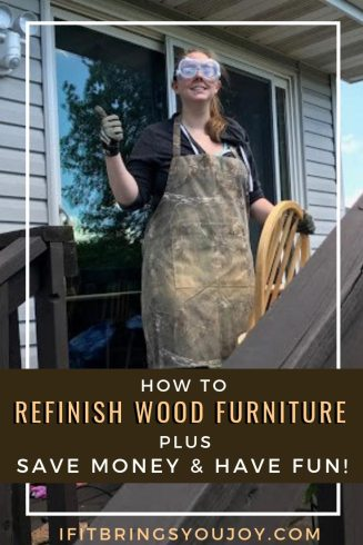 How to refinish wood furniture plus save money & have fun!