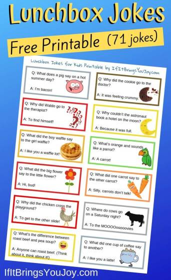 Lunchbox jokes printable example page