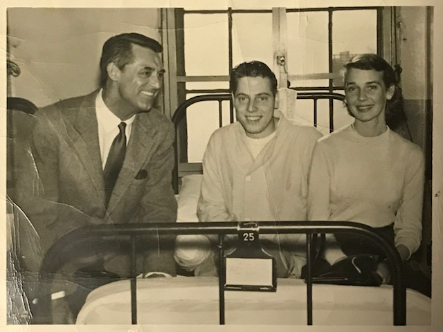 James Bleier with Betsy and Cary Grant in the US Aremy Hospital.