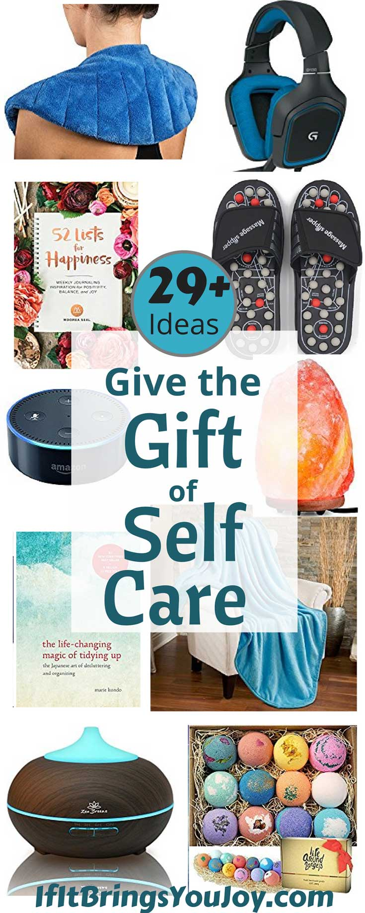 Give the gift of self-care, or treat yourself! The best budget-friendly gift ideas to help make self-care a priority. All of these gift ideas are among Amazon's most popular products ordered as gifts. Perfect for #MothersDay or any gift-giving occasion. #giftguide