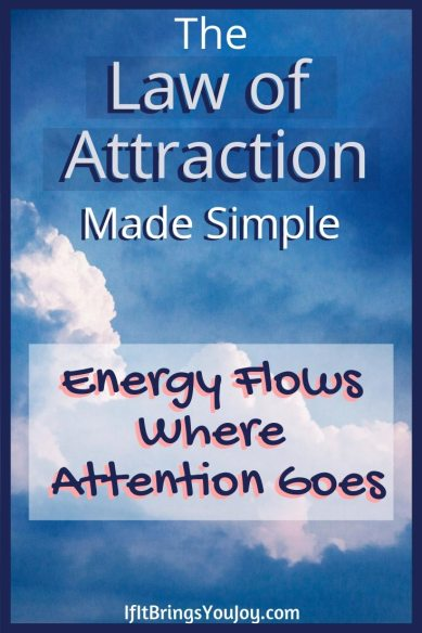 Clouds with Law of Attraction title