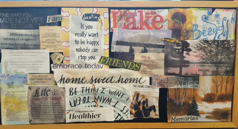 Perfect example of a vision board.