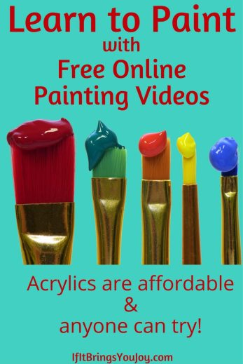 Learn to paint using free online painting videos.