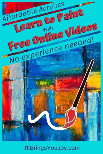Learn to paint with free online videos. No experience needed!