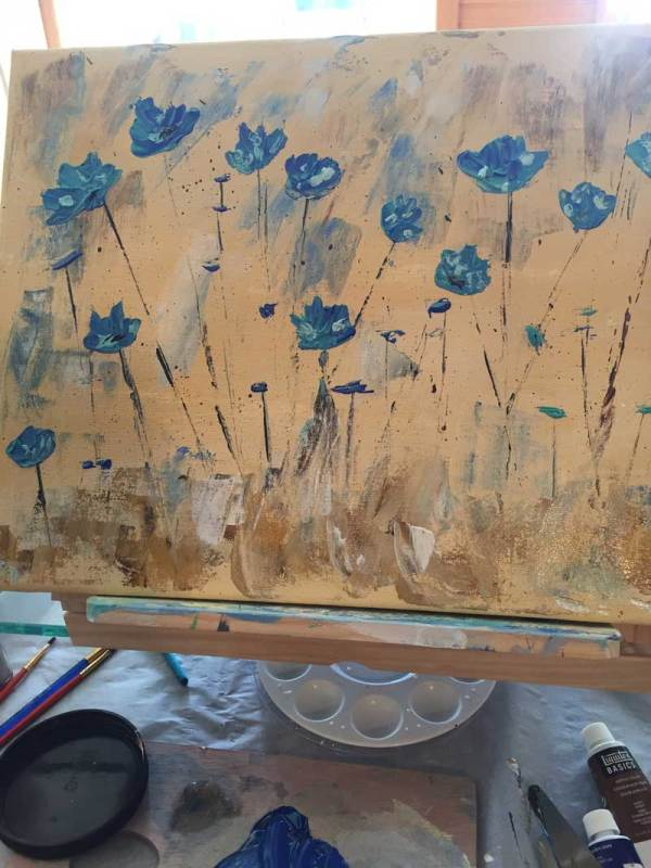 Learning to paint with a palette knife