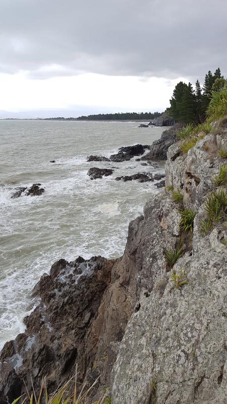 Mountain-lined coast