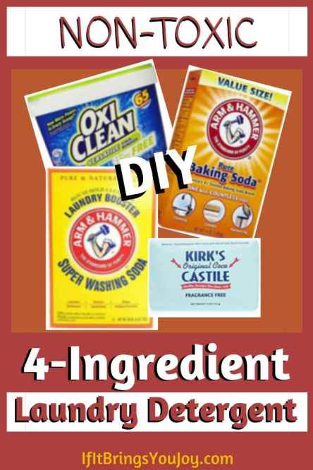 4 ingredients used in homemade laundry detergent