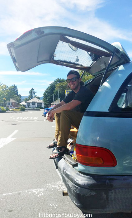 Backpacker van camping in New Zealand