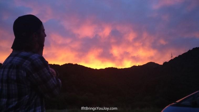 Amazing sunset in Napier, New Zealand.