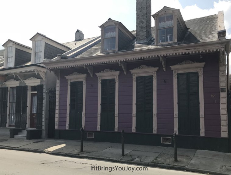 Bright purple house in New Orleans