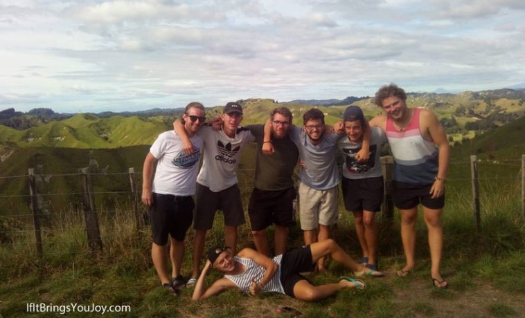 Travel group in New Zealand North Island