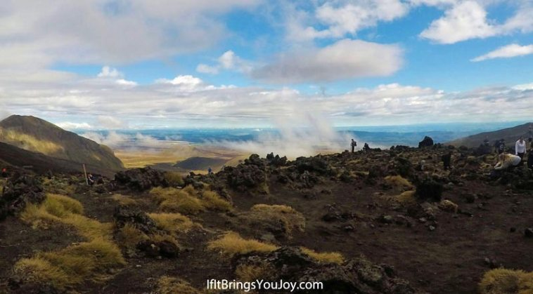 Beautiful view in Tongariro Crossing, New Zealand