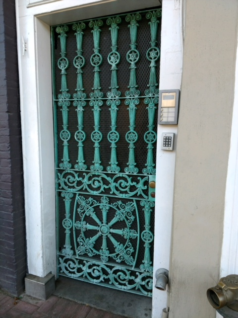 Fancy, ornate iron door in New Orleans