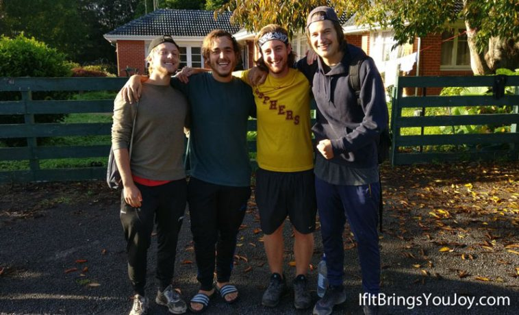 Four friends who traveled throughout New Zealand's North Island