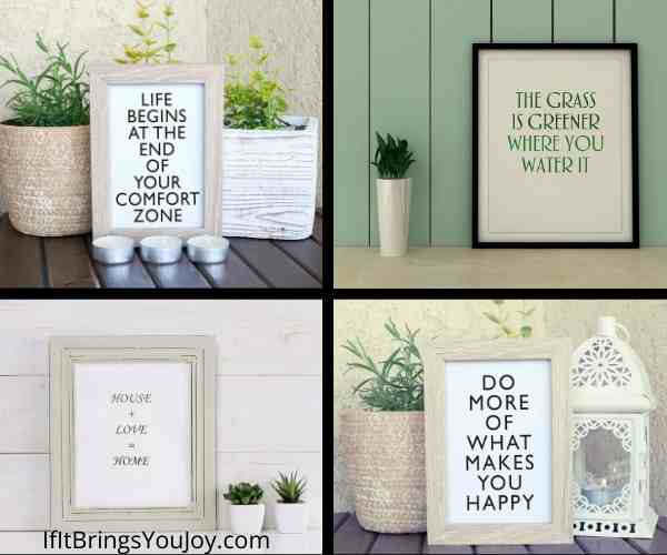 Framed positive messages