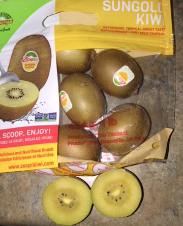 Golden kiwi purchased from store