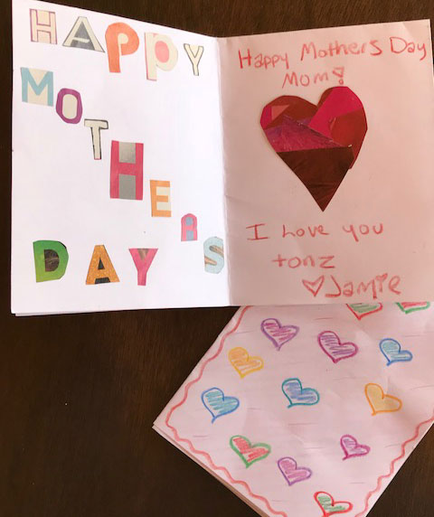 Homemade cards from my daughter