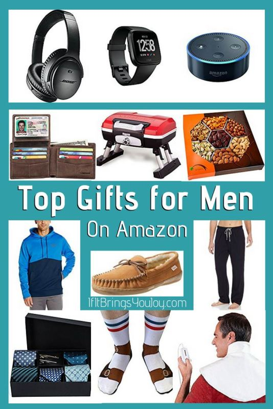 Gift ideas for your father, son, brother, or any special guy for any gift-giving occasion. Each gift also has a 4-5 star customer review rating - so they're popular gifts on Amazon. #FathersDay #GiftGuide #GiftsForDad #Gifts