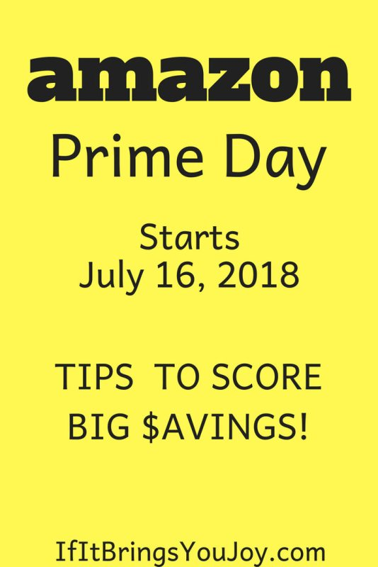 Get tips to score big savings on awesome deals for Amazon Prime Day 2018. #Amazon #AmazonPrime #Deals