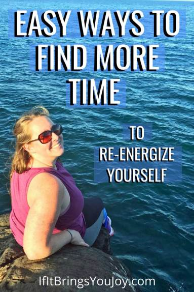 Easy ideas on how to find more time for self-care. If you're worn out and tired all the time, even 10 minutes a day of me-time can re-energize youself and make you feel more cheerful. #time #selfcare