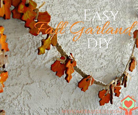 Decorative fall garland
