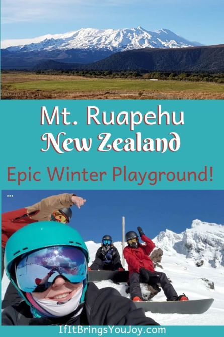 Mt. Ruapehu in New Zealand is an epic winter playground!