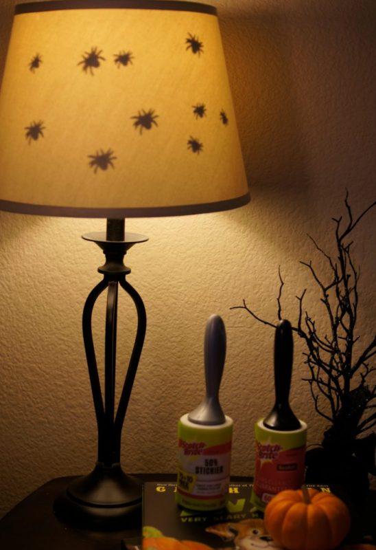 DIY spider lamp