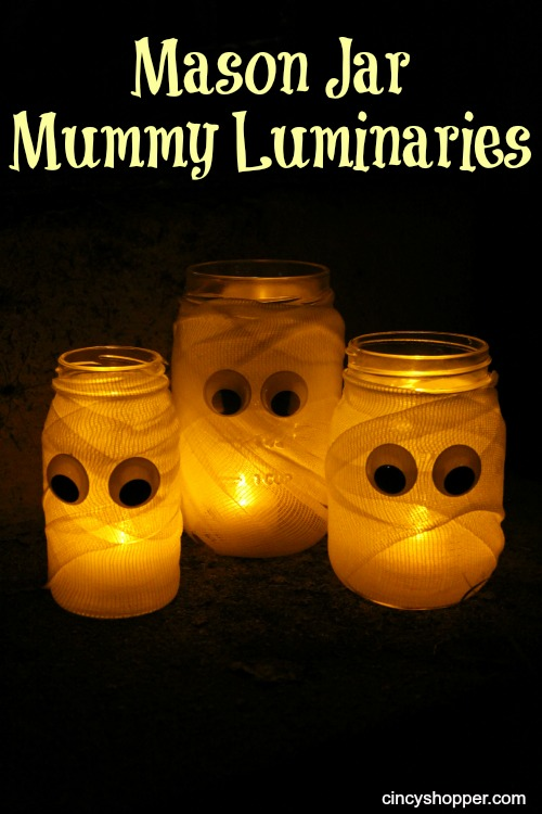 Halloween DIY Mummy Luminaries
