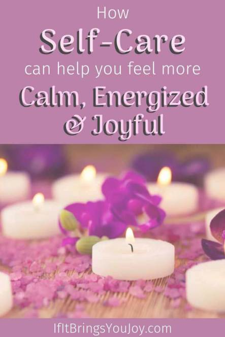 Candles for self-care time