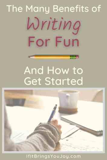 Woman writing for fun