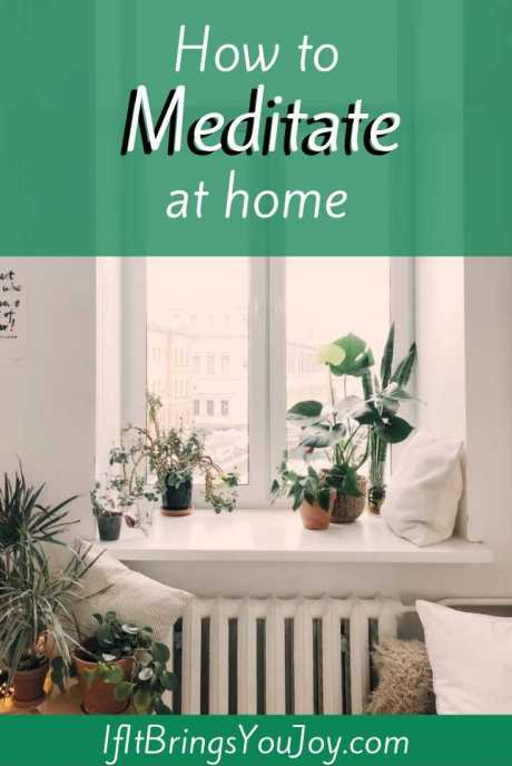 Space at home to meditate