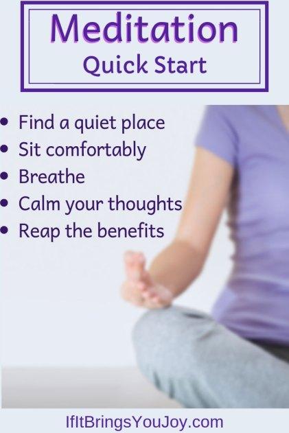Meditation quick start.
