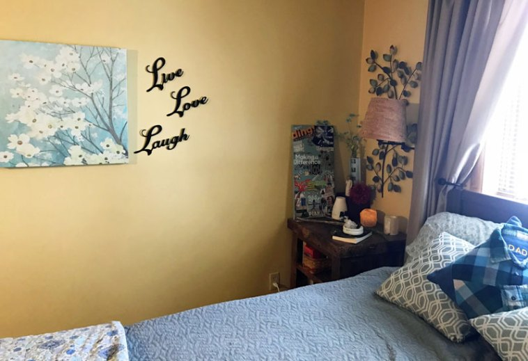 Corner of room designated as a positive energy space