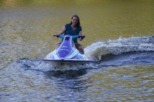 Summer water sport on the lake