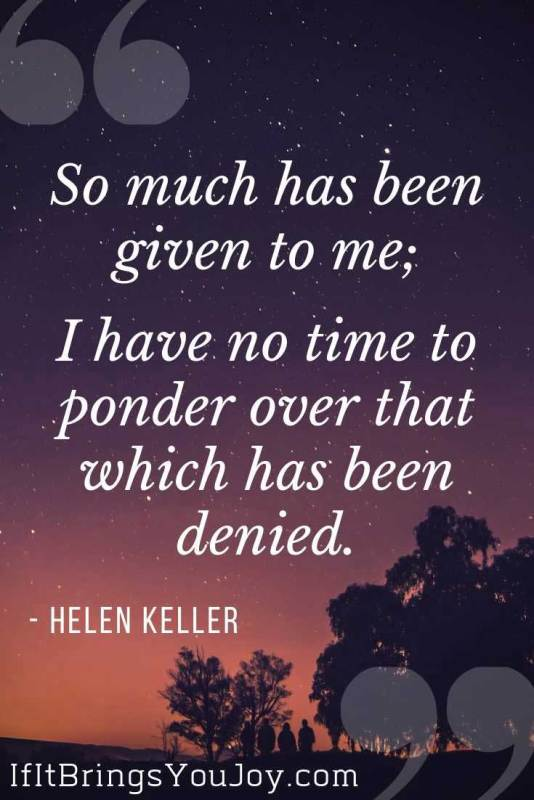 Motivational quote by Helen Keller