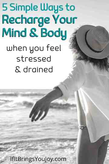 Woman recharging her mind and body