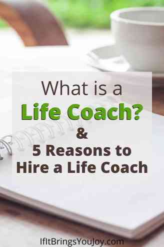 What is a life coach? Notebook and coffee on a desk
