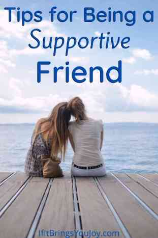 Friends talking and supporting each other