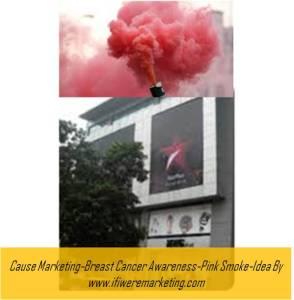 cause marketing-star plus breast cancer awareness-pink smoke-www.ifiweremarketing.com