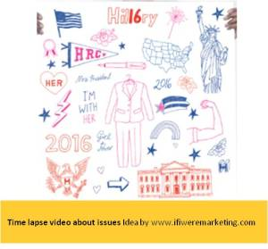 political marketing-hillary clinton-time lapse video about issues-www.ifiweremarketing.com