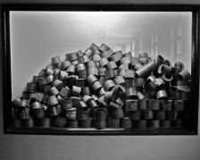 Canisters of gas used in the chambers