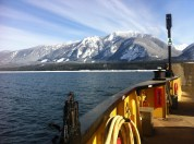 Taking the ferry to St Leon Hot Springs and Nakusp