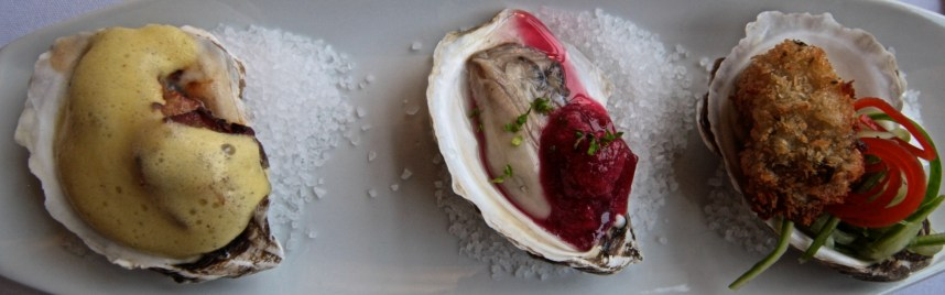 Beausoleil oysters three ways